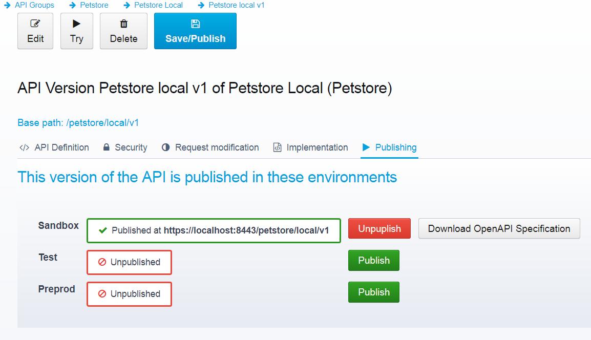 publishing APIs