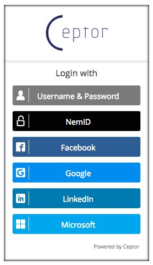 Ceptor Login Cloud Hosted Multi-Factor Authentication
