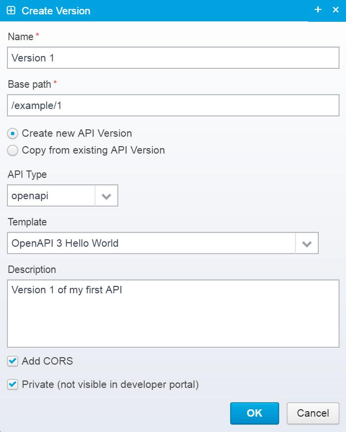 Creating API Version