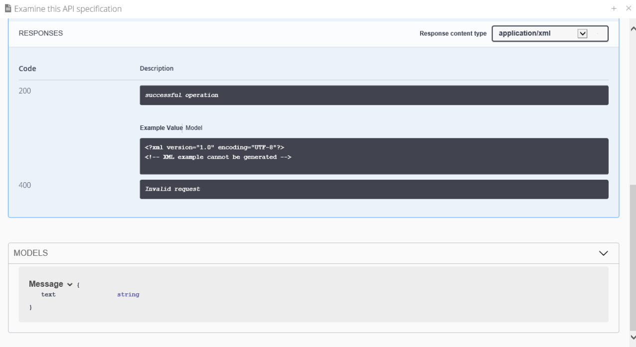 API Explorer Screen